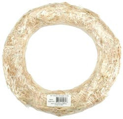 Straw Wreath 10in