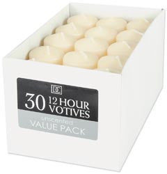 Unscented 12 Hour Votive Candles Ivory