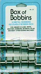 Bobbins In Reusable Bobbin Box 12 Bobbins