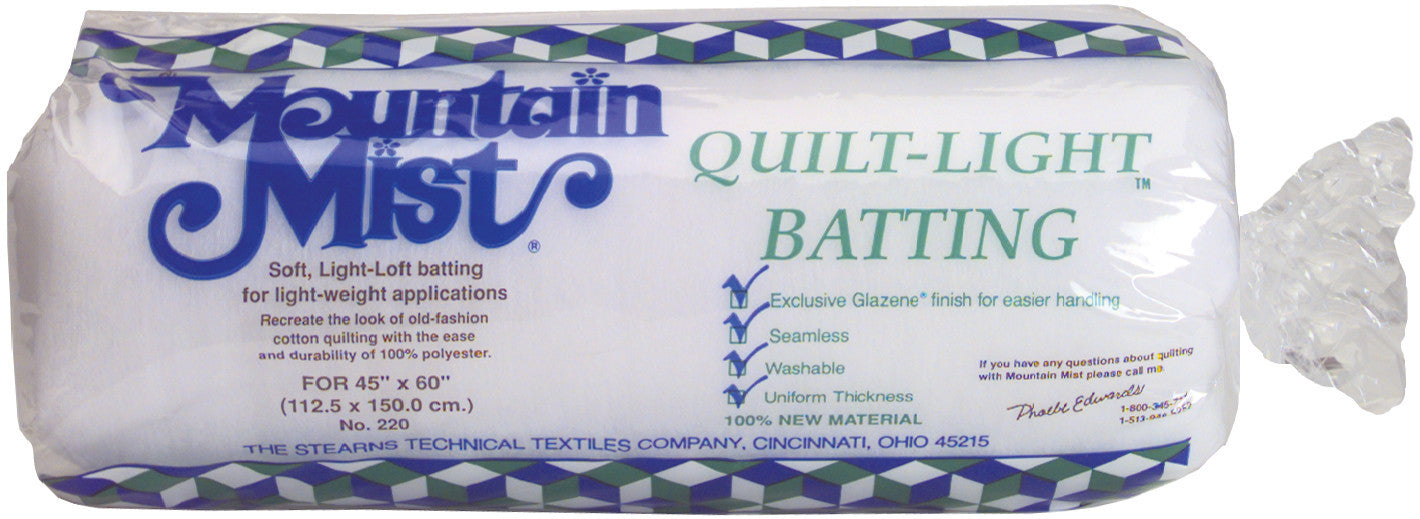 Quilt-Light Polyester Batting Crib/Craft Size