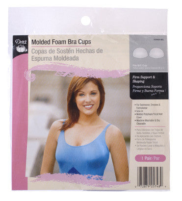 Molded Foam Bra Cups Fits B/C Cup