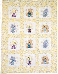 ABC 123 Quilt Blocks Stamped Cross Stitch