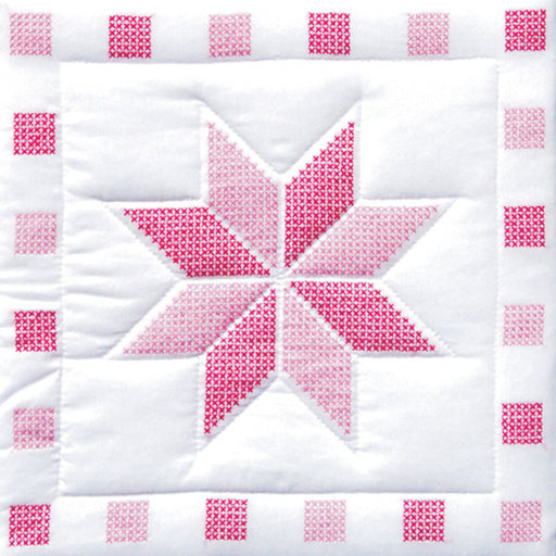Stamped White Quilt Blocks XXX Stars #315