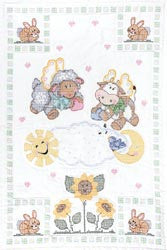 Stamped White Quilt Crib Top Heavenly Creatures