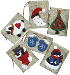 Gift Bag Ornaments Kit Set Of Six
