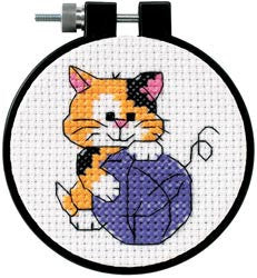 Learn-A-Craft Cute Kitty Counted Cross Stitch Kit