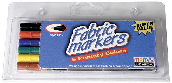 Fabric Marker Fine Tip Primary