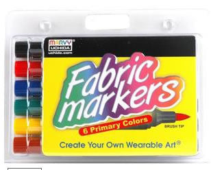 Fabric Marker Brush Tip Bright