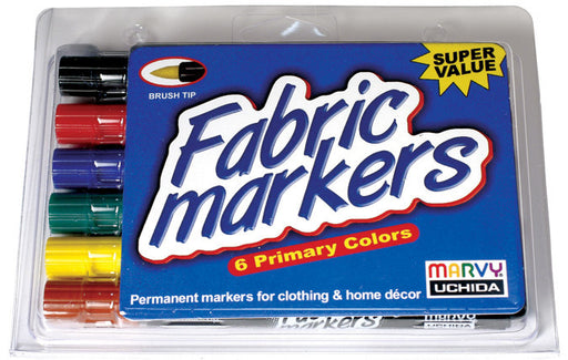 Fabric Marker Brush Tip Primary