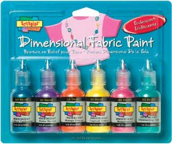 Scribbles Dimensional Fabric Paint Iridescent 1oz
