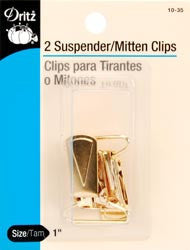 Mitten Clips Suspender Clips Gilt