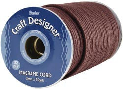 Craft Designer Macrame Cord Brown Poly