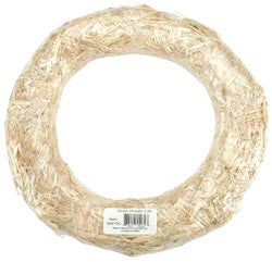 Straw Wreath 14in
