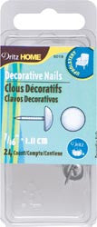 Upholstery Decorative Nails 7/16in White Smooth Head