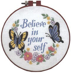 Learn-A-Craft Believe In Yourself Crewel Embroidery Kit