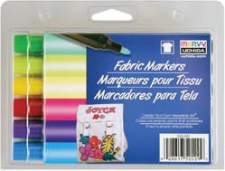Fabric Marker Broad Tip Brilliant 6/Pkg