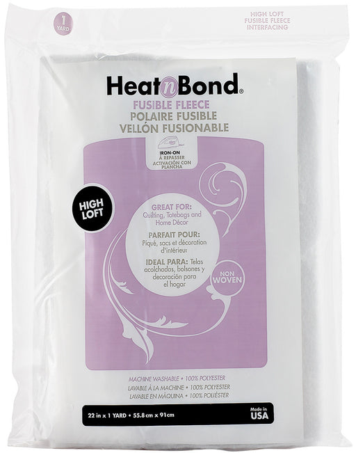 HeatnBond Fusible Fleece High Loft White