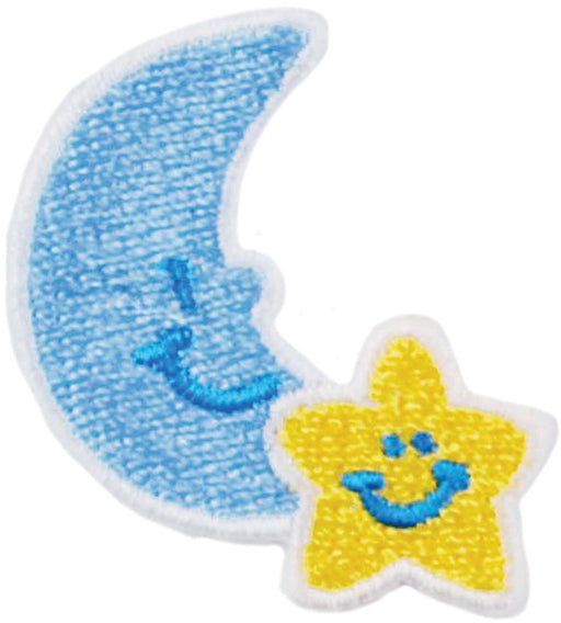 Iron-On Appliques Moon & Star