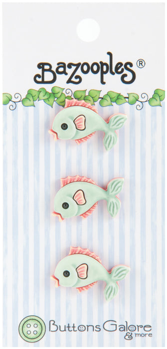 BaZooples Buttons Green Fish