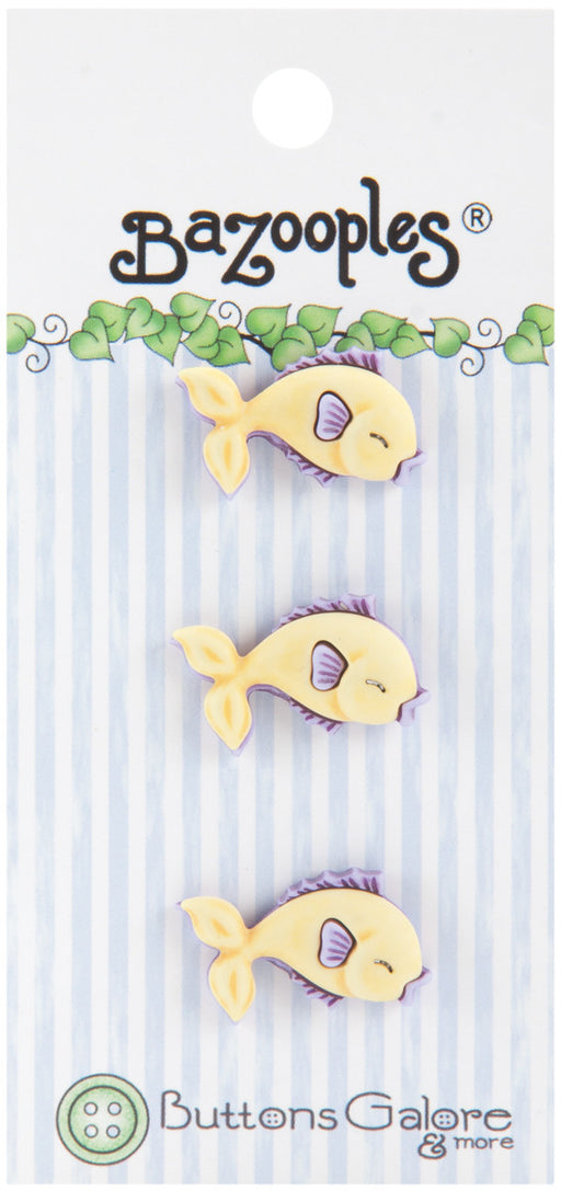 BaZooples Buttons Yellow Fish