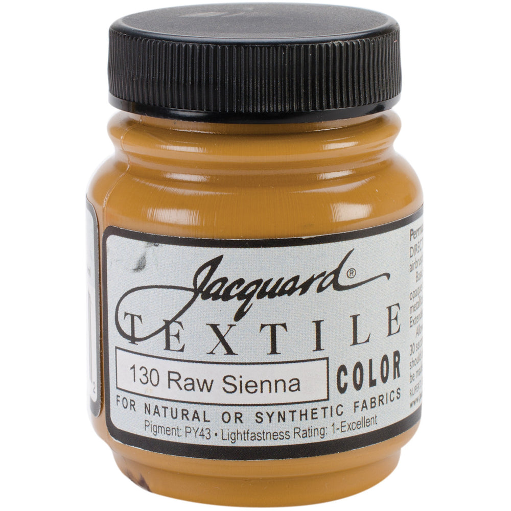 Jacquard Textile Color Fabric Paint Raw Sienna 2.25oz