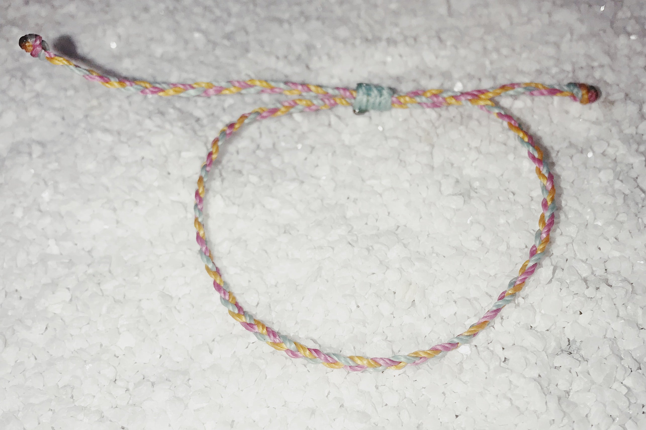 Friendship Bracelet - Pink, Yellow, White