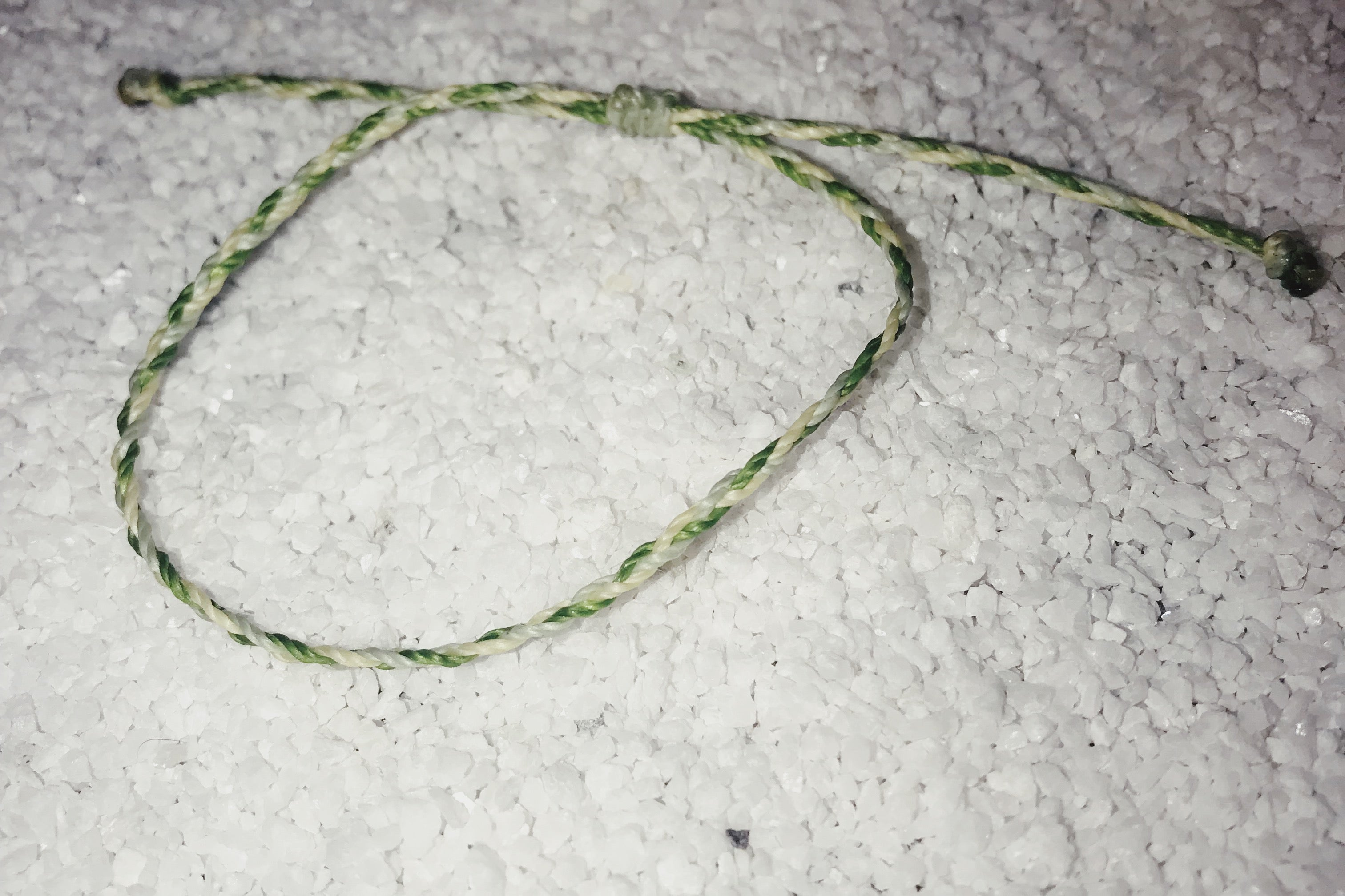 Friendship Bracelet - Ivy, Lime and White