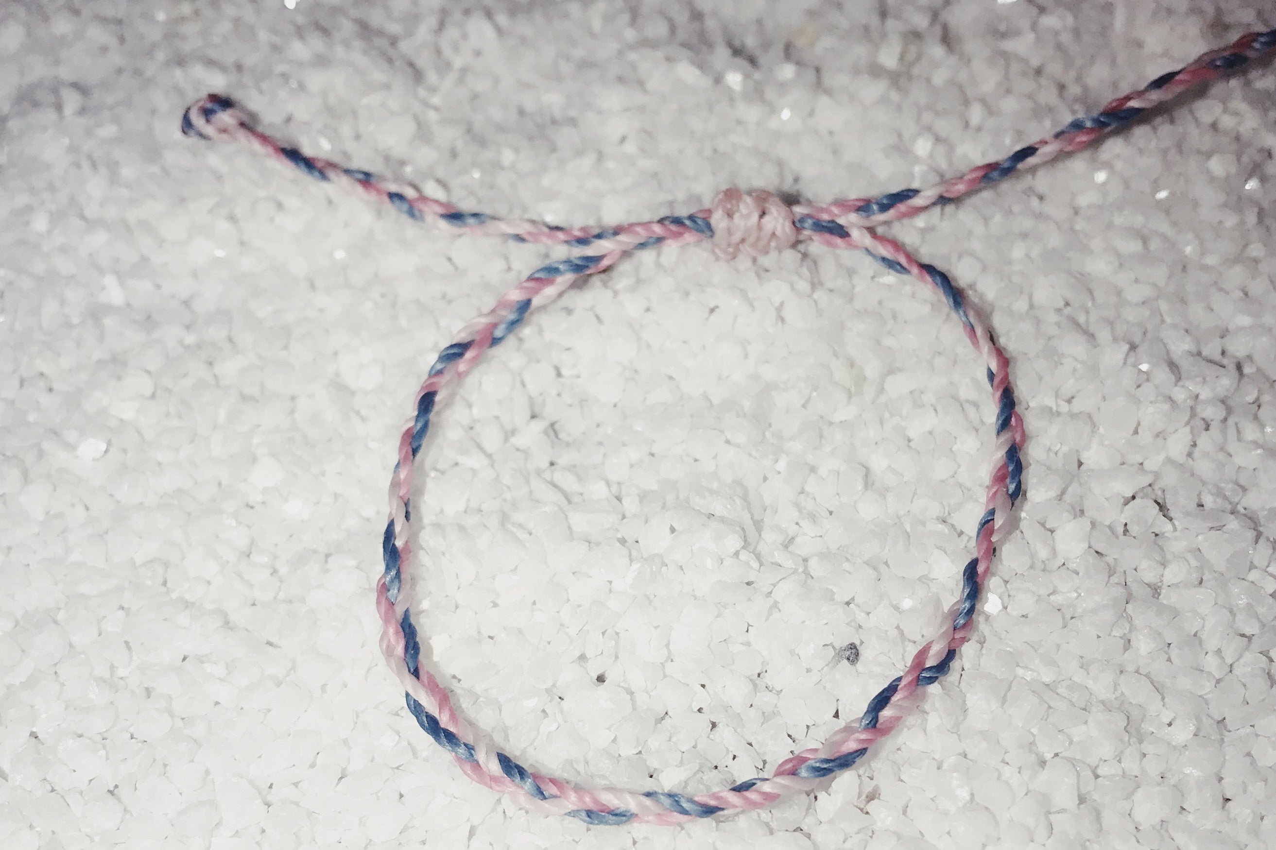 Friendship Bracelet - Pink, Blue and White