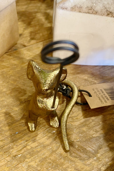 Bronze Mouse Card Holder