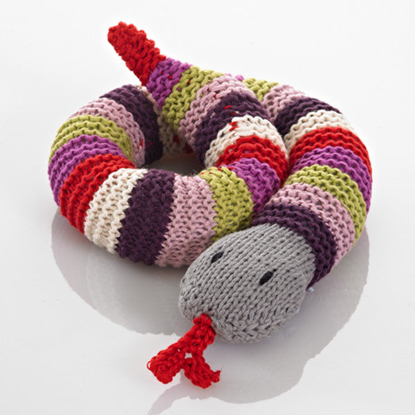 Pebble Snake Rattle - Purple