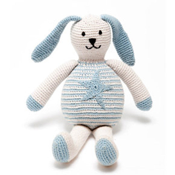 Pebble Motif Organic Bunny - Blue Star