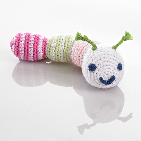 Pebble Caterpillar Rattle – Pink