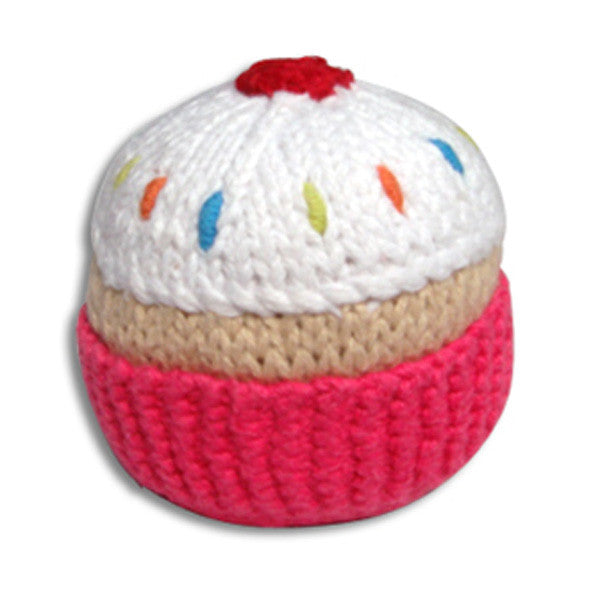 Pebble Cupcake Rattle – Hot Pink