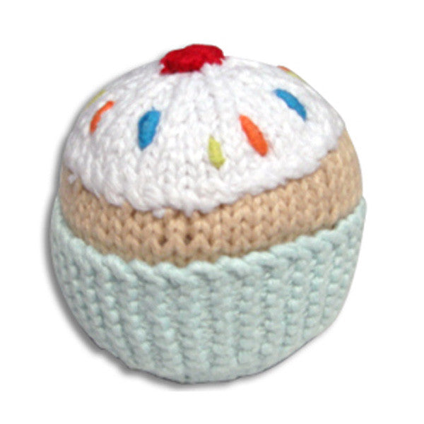Pebble Cupcake Rattle – turquoise