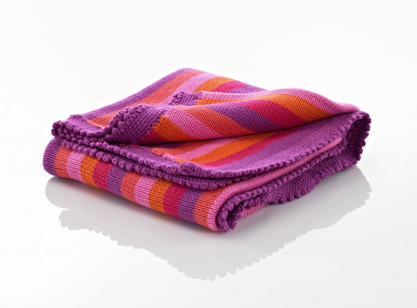 Pebble Blanket – Pink Stripey