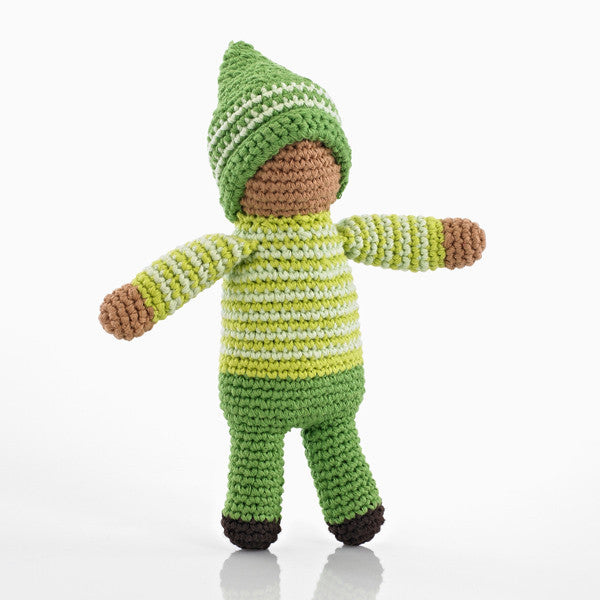 Pebble Pixie Rattle - Fern Green