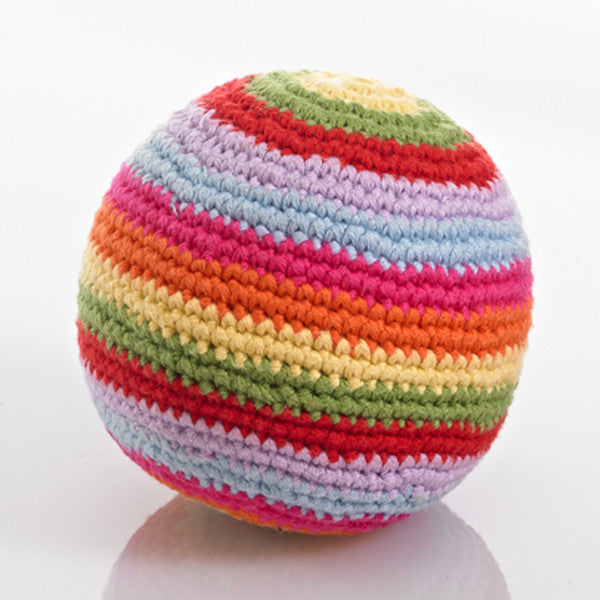 Pebble Stripey Crochet Rattle Ball