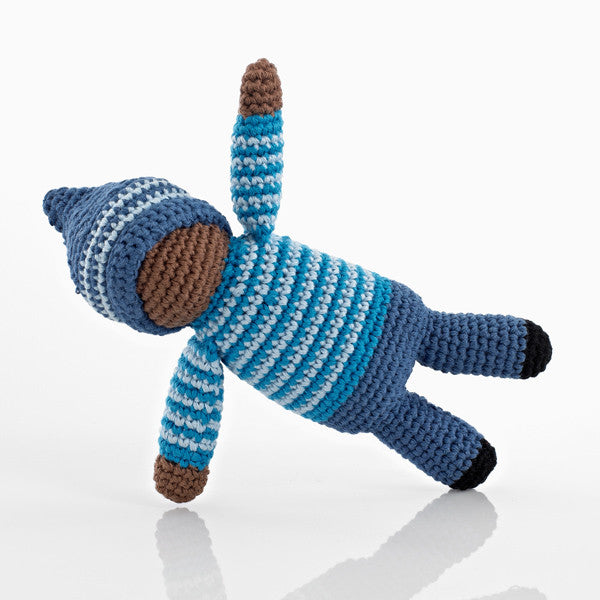 Pebble Pixie Rattle - Birch Blue