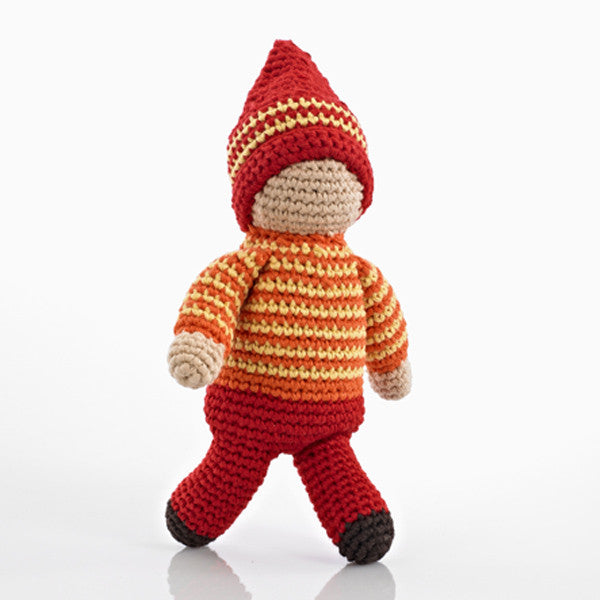 Pebble Pixie Rattle - Acorn Red