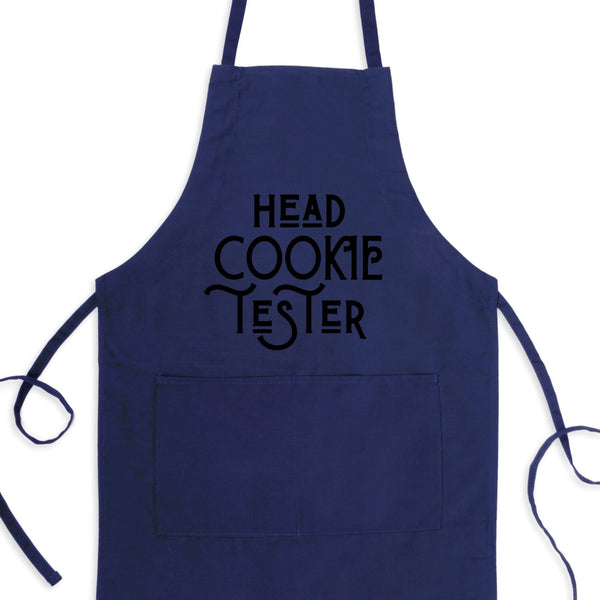 Head Cookie Tester Bib Apron with Pockets