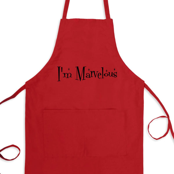 I'm Marvelous Bib Apron with Pockets