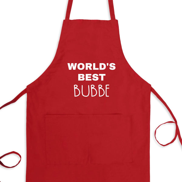 World's Best Bubbe Bib Apron with Pockets