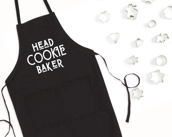 Head Cookie Baker Bib Apron with Pockets