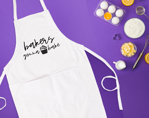 Bakers Gonna Bake Bib Apron with Pockets