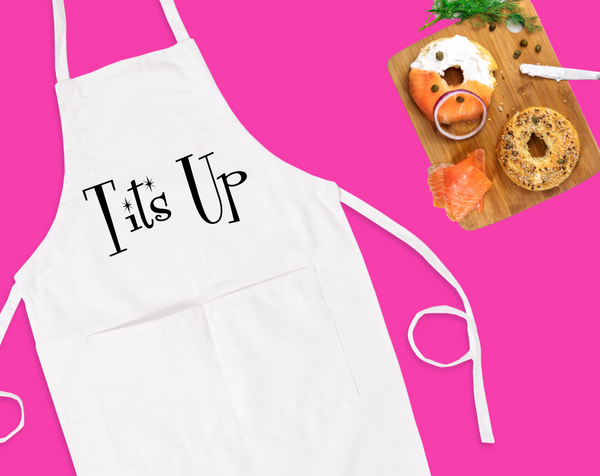 Tits Up Bib Apron with Pockets