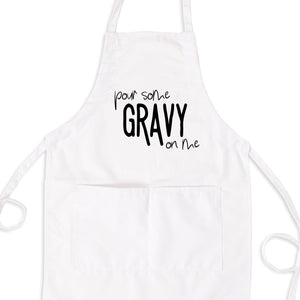 Pour Some Gravy On Me Bib Apron with Pockets