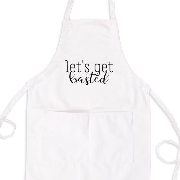 Let's Get Basted Bib Apron with Pockets