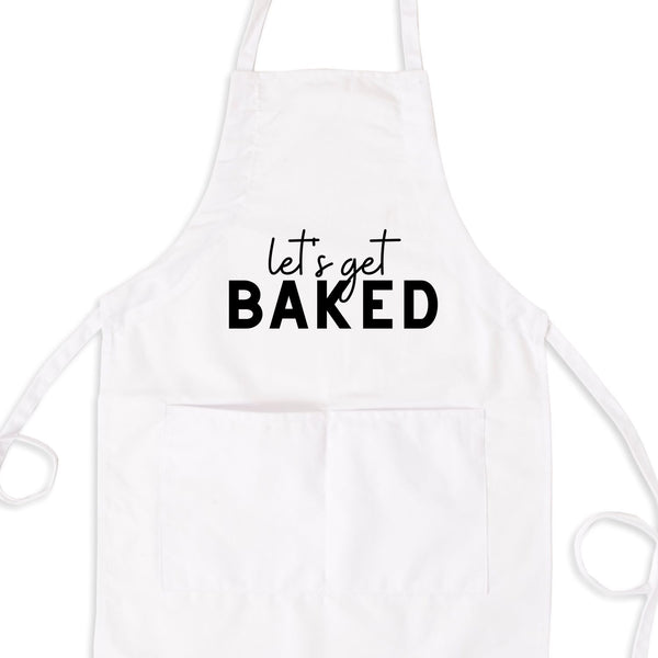 Let's Get Baked Bib Apron with Pockets