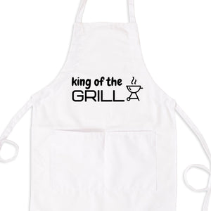 King of The Grill Bib Apron with Pockets