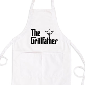 The Grillfather Bib Apron with Pockets